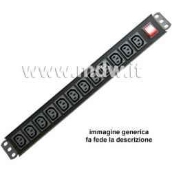 Multipresa 12 IEC C13 + inter.Magneto-Termico - struttura PVC V0