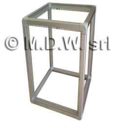 Telaio rack open frame 19 pollici - 45u x 551 x 551 (l x p mm), in alluminio anodizzato