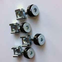 Kit 4 viti filetto M6 x 15 mm testa svasata chiave esagonale colore acciaio + rondella in nylon colore nero + dado in gabbietta metallica...